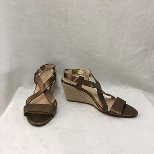 COLE HAAN Wedge Sandals. Size 7B.